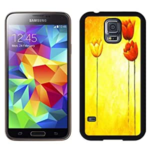 NEW DIY Unique Designed Samsung Galaxy S5 I9600 Phone Case For Hand Drawn Tulips Phone Case Cover