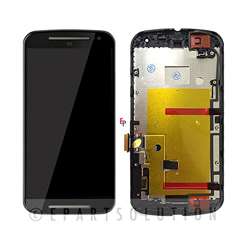 ePartSolution_Motorola Moto G 2nd Gen XT1063 XT1064 XT1068 LCD Touch Screen Digitizer Glass + Frame Housing Black Replacement Part USA Seller (Motorola G Screen)