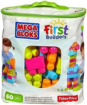 60 Pieces Mega Bloks DCH54 Buildable Bag