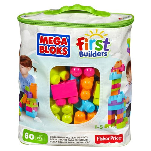 Mega Bloks Big Building Bag 60-Piece (Trendy)