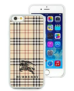 iPhone 6 Case,Burberry 10 White iPhone 6 4.7 inches Screen TPU Phone Case Unique and Elegant Design