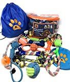#4: Dog Rope Toys for Small and Medium Dogs - Set of 13 Chew and Teething Toys for Aggressive Chewers with Bonus Storage Bag