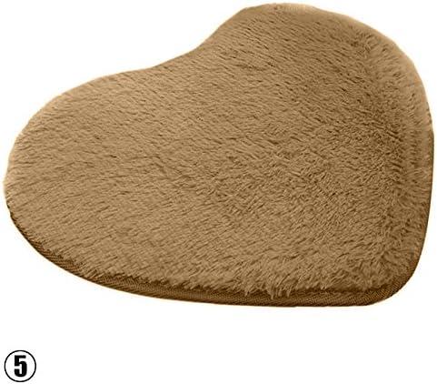 Alfombra de ba/ño con forma de coraz/ón de RUNGAO suave y absorbente
