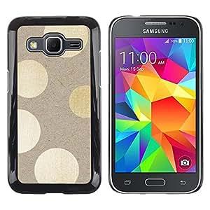 Caucho caso de Shell duro de la cubierta de accesorios de protección BY RAYDREAMMM - Samsung Galaxy Core Prime SM-G360 - Polka Dots Wood Pattern Bling