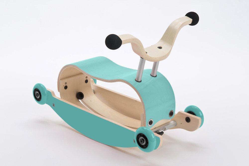 Wishbone Mini-Flip Mix & Match in Black - Baby Walker That Converts - 3-in-1 Walk, Scoot and Rock