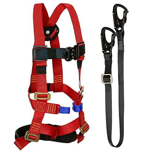 Fusion Climb Tactical Edition Kids Commercial Zip Line Kit Harness/Lanyard Bundle FTK-K-HL-04