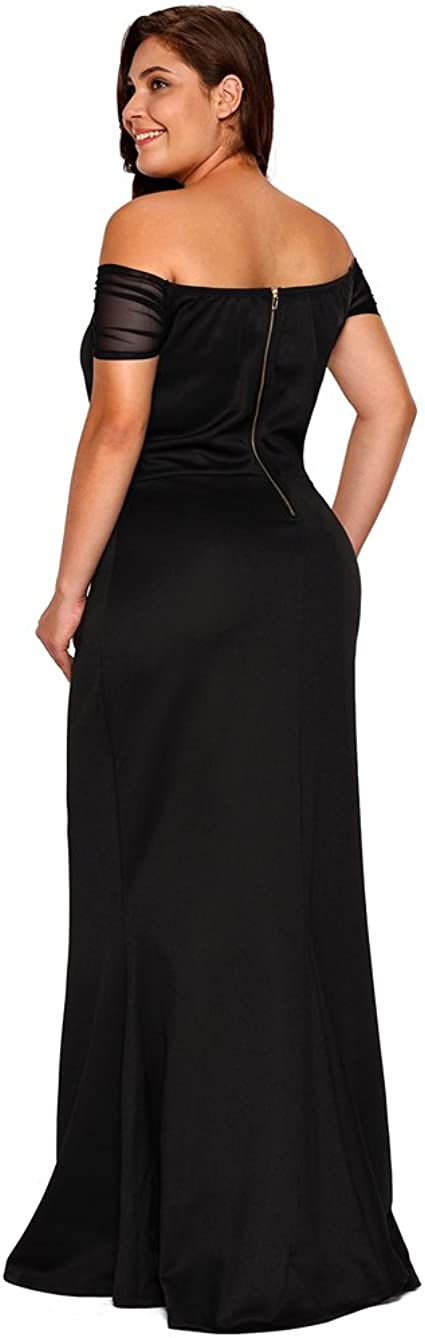 Women's Plus Size Off Shoulder Long Formal Party Dress