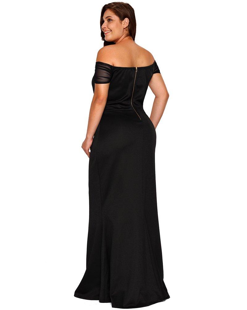 bafc1f79b1e Home Brands Lalagen Dresses Lalagen Women s Plus Size Off Shoulder Long  Formal Party Dress Evening Gown Size XXL (Black).   