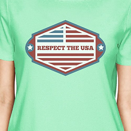 Respect Courtes Usa Unique T shirt Manches Taille Femme Printing 365 The wFI8vq77