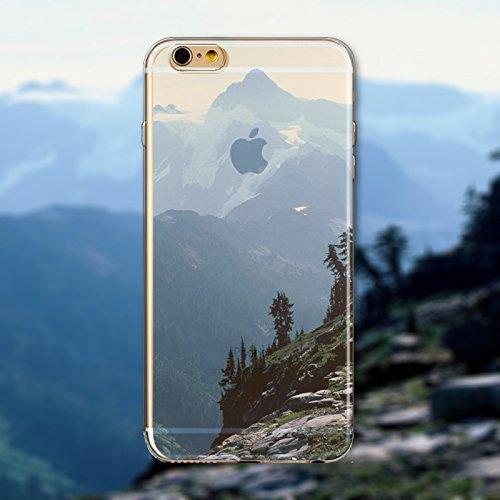 Coque iPhone 6 6s Housse étui-Case Transparent Liquid Crystal en TPU Silicone Clair,Protection Ultra Mince Premium,Coque Prime pour iPhone 6 6s-Paysage-style 29