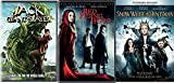 Little Jack White Modern Fairy Tale Triple Feature Red Riding Hood / Snow White & The Huntsman + Jack the Giant Slayer 3 DVD Pack