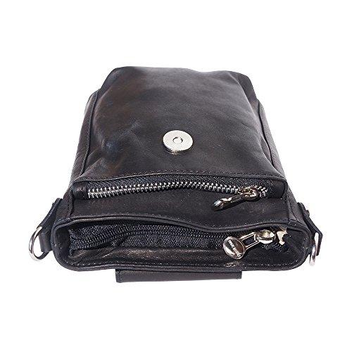 """Negro Bolso """"stella Florence Market Leather De 9607 Bandolera Cuero q6E8pw"""