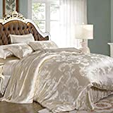 L&M Wide Sided silk Jacquard four sets 100% mulberry silk kit Silk quilt 220X240 (CM) 200230?cm? , creamy-white , 220240cm