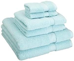 Superior - Juego de toallas de algodón de 900 g/m2, color espuma marina, 6 piezas