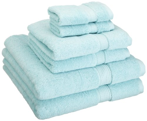 Superior 900 GSM Luxury Bathroom 6-Piece Towel Set, Made Long-Staple Combed Cotton, 2 Hotel & Spa Quality Washcloths, 2 Hand Towels, and 2 Bath Towels - Sea (Best Superior Bath Towel Sets)