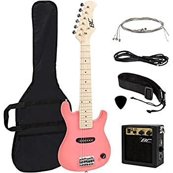 30 kids pink electric guitar with amp much more guitar combo accessory kit. Black Bedroom Furniture Sets. Home Design Ideas