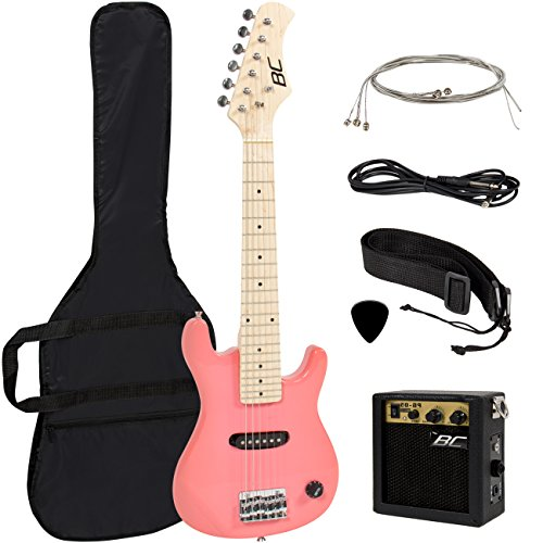 "30"" Kids Pink Electric Guitar with Amp & Much More Guitar Co"