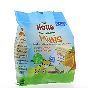 Holle | Mini Fruit Bars- Ban-Orange | 2 x 10 x 100g