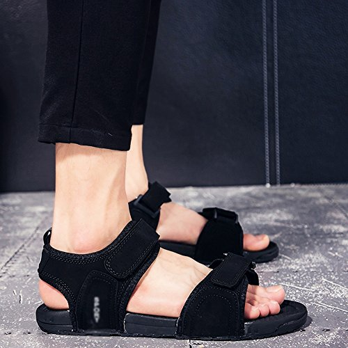 MAZHONG Zapatillas Sandalias Sandalias para hombres Parejas Zapatos de verano para hombres Zapatos casuales Sandalias al aire libre para deportes ( Color : Negro , Tamaño : EU41/UK7.5-8/CN42 ) Negro