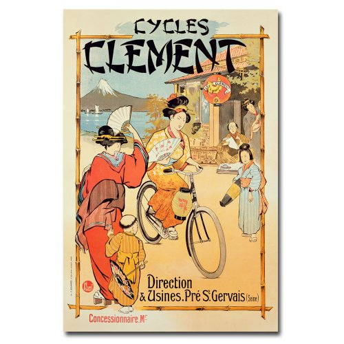 Cycles Clement, 30x47-Inch Canvas Wall Art
