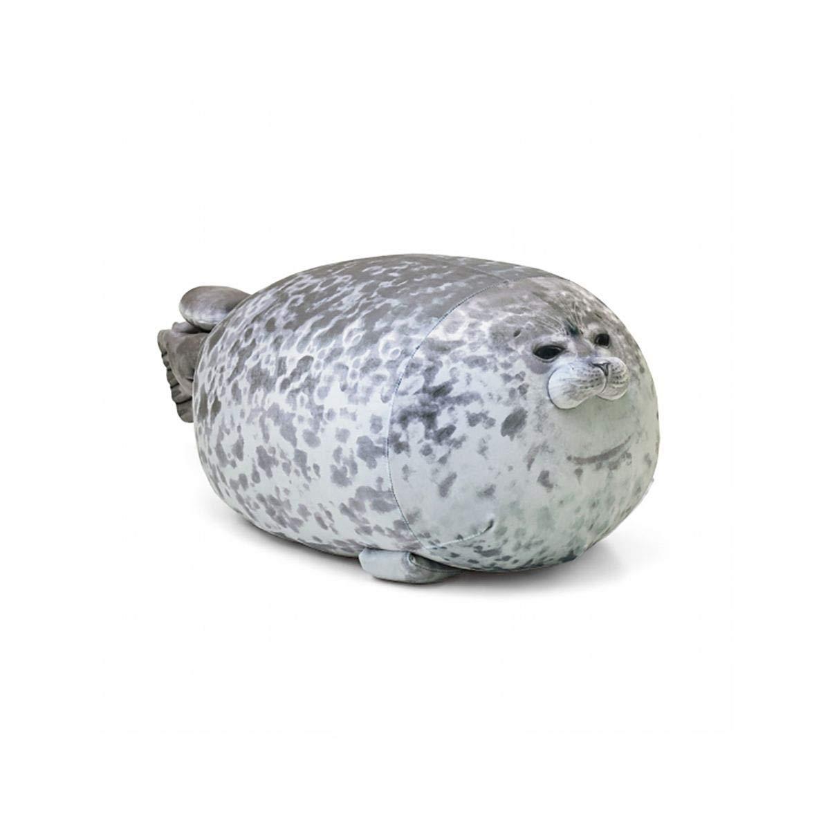 SHENGNONG Cuscino Animali Domestici Consolatore Cuscino Cicciona Blob Seal Peluche Giocattolo Animale Simpatico Oceano Cuscino Animale Domestico Bambola per Bambini Peluche in Cotone