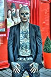 Leinwandbild Khandani 1 - HDR - SCARY WAX MAN WITH TATTOO AND PIERCING 2 - 120 x 180cm - Premiumqualität - MADE IN GERMANY - ART-GALERIE-SHOPde