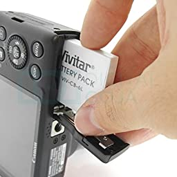 (2 Pack) Vivitar NB-6L / NB-6LH Batteries for Select Canon PowerShot Cameras