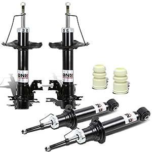DNA Motoring Nissan Sentra B15 Front+Rear 4pcs Shock Absorbers (Black)