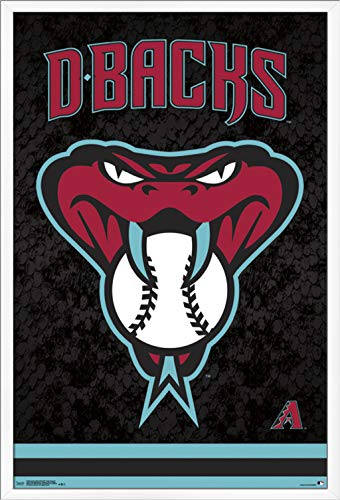 Trends International Arizona Diamondbacks - Snake Head Wall Poster, 24.25