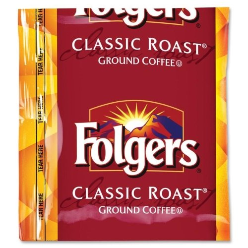 Folgers Coffee, Fraction Pack, Classic Roast, 1.5oz, 42/Carton