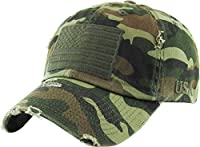 KBETHOS Tactical Operator Collection With USA Flag Patch US Army Military Cap Fashion Trucker Twill Mesh