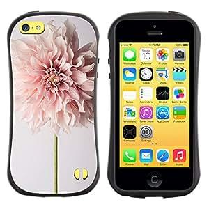 Paccase / Suave TPU GEL Caso Carcasa de Protección Funda para - Flower Spring Easter Petal Floral Beige - Apple Iphone 5C