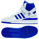 adidas Forum Hi OG Basketball Sneaker Shoe - Running white/Collegiate Royal - Mens - 11.5