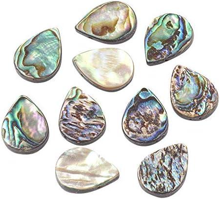 PH PandaHall 10個 図形をドロップ アワビの殻 アバロンシェルビーズ ピアス用 ブレスレット ネックレス ジュエリ