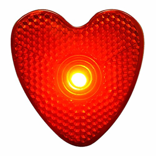 LED Blinking Red Heart Reflector Clip by Blinkee ()