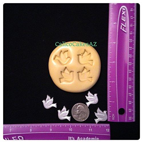 4 Piece DOVE Fondant Mold Wedding Chocolate Candy Gumpaste Soap Resin (Doves Candy Mold)