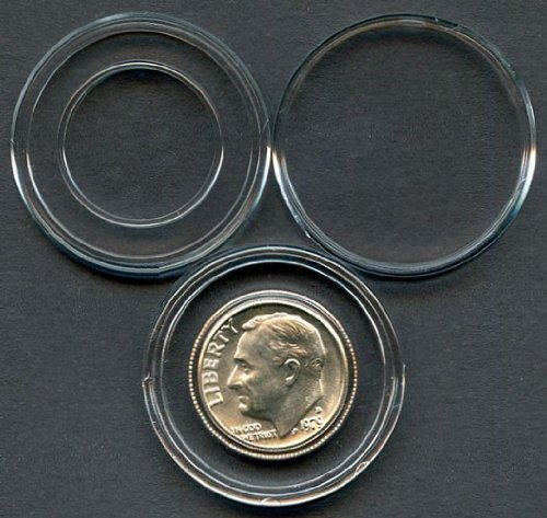 Air-Tite A18 Direct Fit U.S Dime Coin Holders, Pack of 25 ()