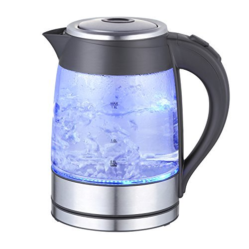 MegaChef 1.8Lt. Electric Stainless Steel Tea Kettle with Bor
