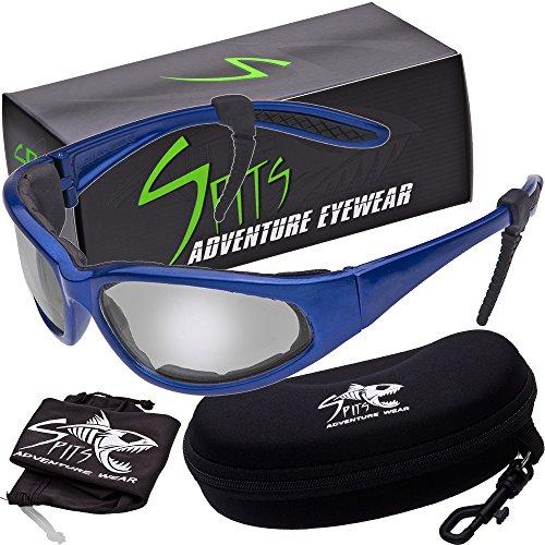 - Hercules Photochromic Foam Padded Safety Glasses - Blue Frame - Clear/Smoke Lenses