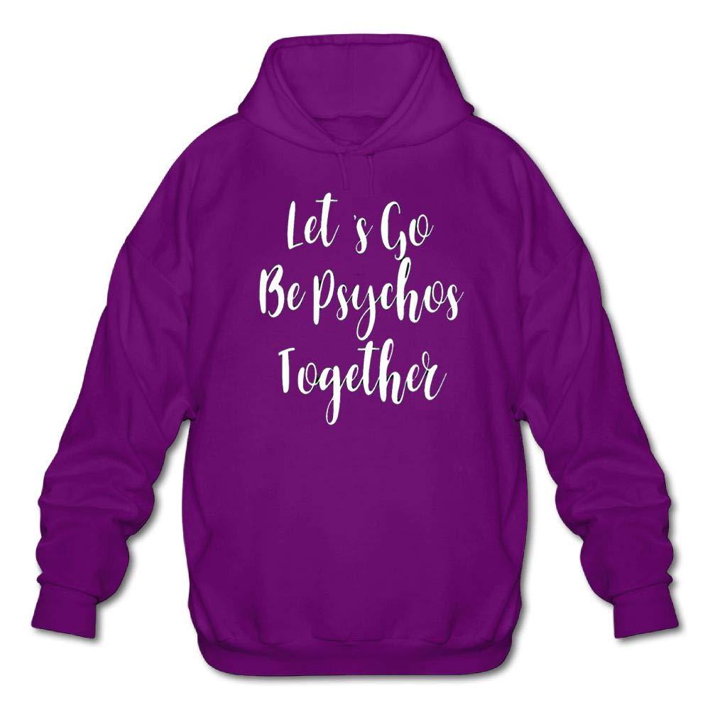 Gongchaoqun Mens Long Sleeve Cotton Hoodie Lets Go Be Psychos Together Sweatshirt