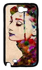 Audrey Hepburn Custom PC Transparent Case for Samsung Galaxy Note II N7100 by icasepersonalized