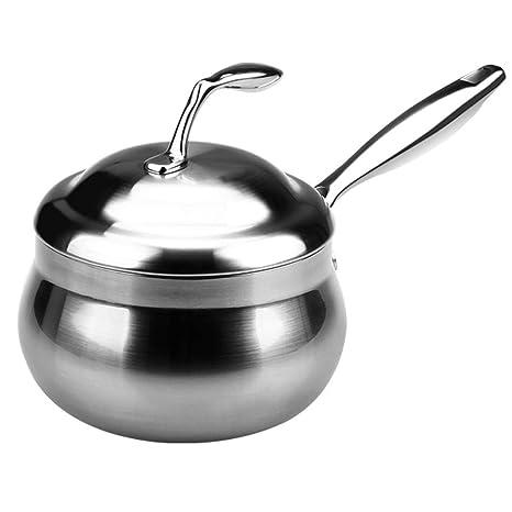 LULUDP Batería de cocina Sartenes y ollas Sopa olla de acero ...