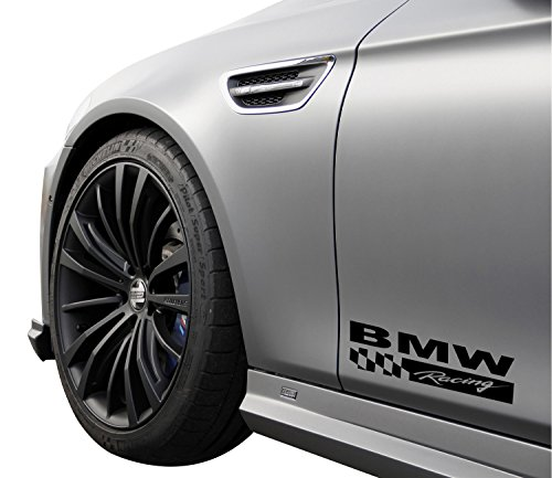 - DECALS USA BMW Racing 330 325 335 535 540 M3 M5 E36 E46 E60 E90 Decal Sticker Emblem Logo Black 2PCS