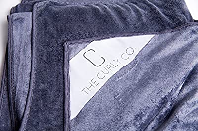 Premium Microfiber Extra-Large Hair Towel by The Curly Co. with The Curly Co. 100% Satisfaction Guarantee