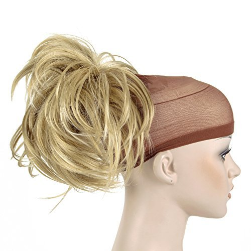 Onedor 12 inch Premium Synthetic Adjustable amp Customizable Updo Style Ponytail Hair Extension with Clip on Claw Attachment 24H613