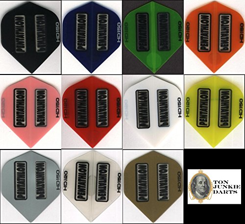 """10 PACK OF PENTATHLON HD150"" Dart Flights: STANDARD 150 MICRONS THICK: 10 sets"