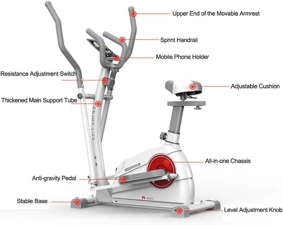 YXRPK Bicicleta Estática Elíptica Multifuncional Professional De ...
