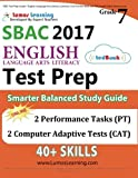 img - for SBAC Test Prep: Grade 7 English Language Arts Literacy (ELA) Common Core Practice Book and Full-length Online Assessments: Smarter Balanced Study Guide book / textbook / text book