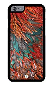 iZERCASE iPhone 6 PLUS Case Orange feather RUBBER CASE - Fits iPhone 6 PLUS T-Mobile, Verizon, AT&T, Sprint and International