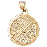 Gold Golf Clubs Pendant (approx. 2.2 grams, 22 mm x 16 mm)